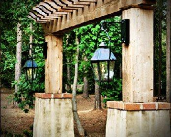 Arbor Entrances with Gas Lanterns